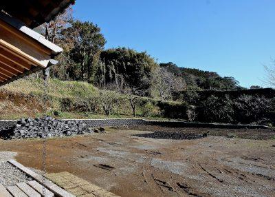 土流出防止瓦積み