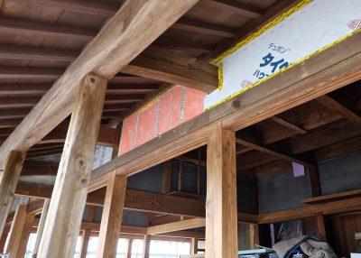 ②外側の断熱材左から室内側の可変透湿機密シート、断熱材、透湿防水シート